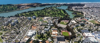 SF State campus from above